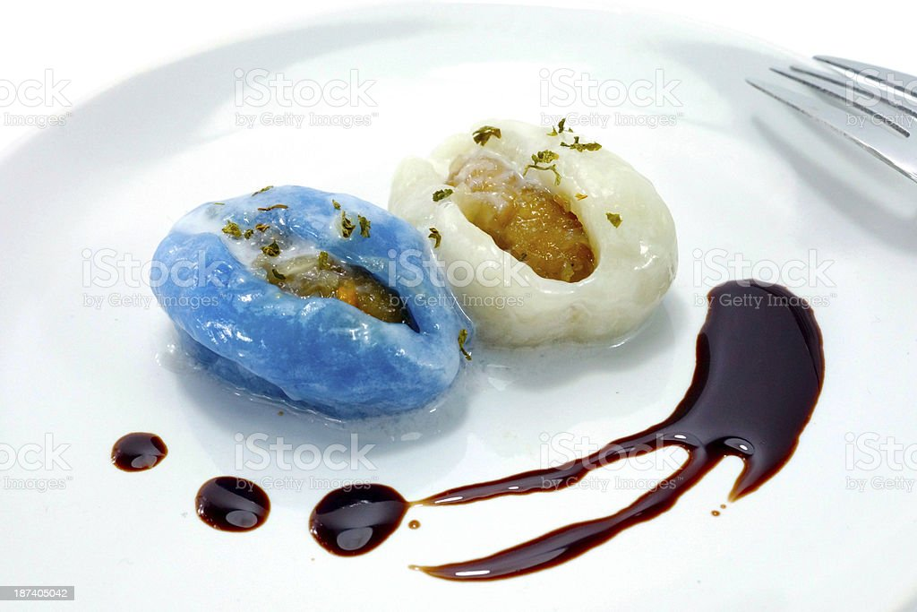 Thai desserts stuffed with coconut and nuts. royalty-free stock photo