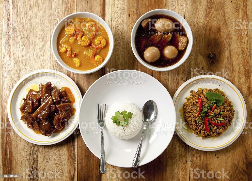 Thai Dinner Set. royalty-free stock photo