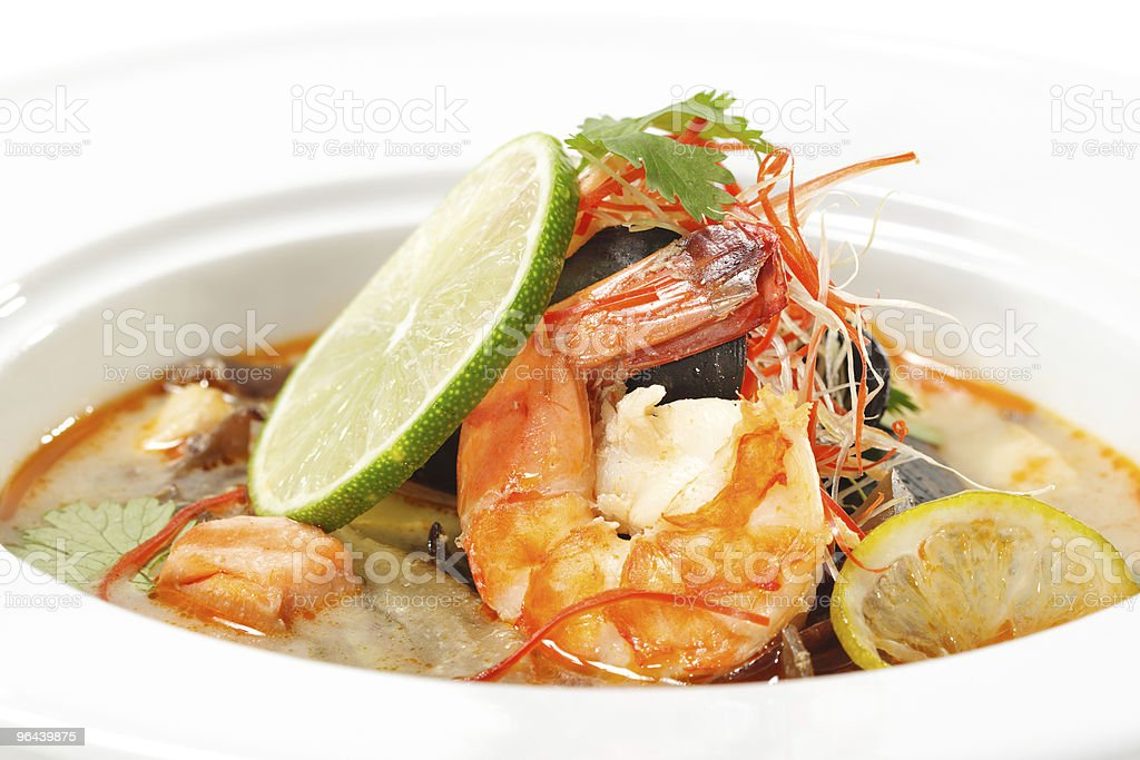 Thai Dishes - Tom Yam Kung royalty-free stock photo