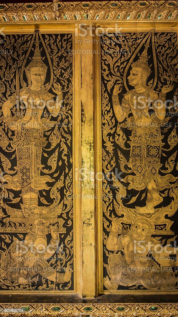 Thai door art architecture. royalty-free stock photo & Thai Door Art Architecture stock photo 607600724 | iStock Pezcame.Com