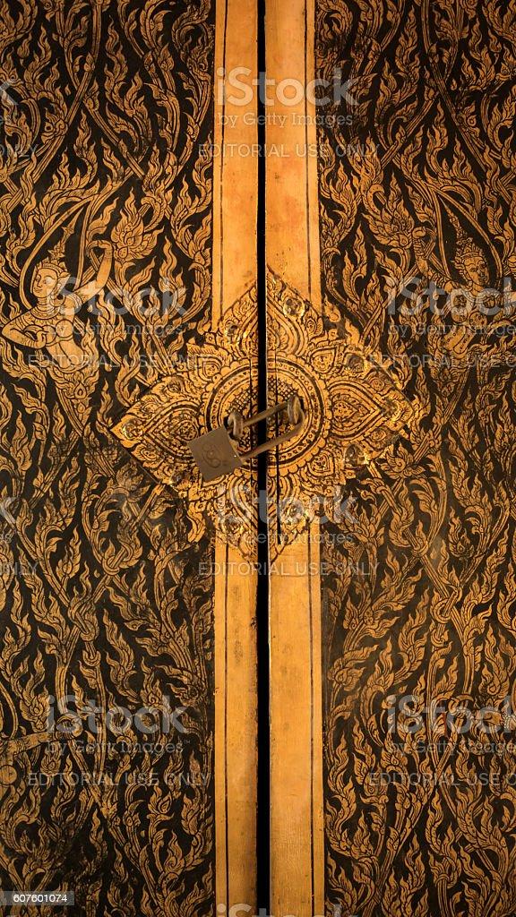 Thai door art architecture. royalty-free stock photo & Thai Door Art Architecture stock photo 607601074 | iStock Pezcame.Com