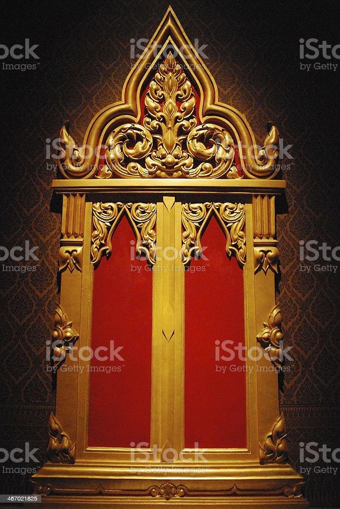 Thai doors (Thai style) stock photo