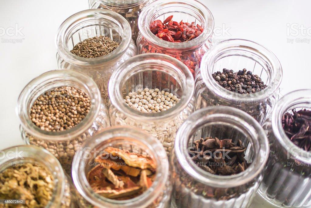Thai dry herb stock photo