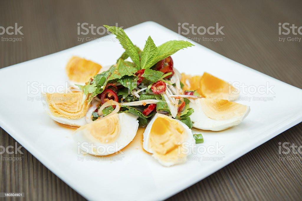 Thai egg salad. royalty-free stock photo