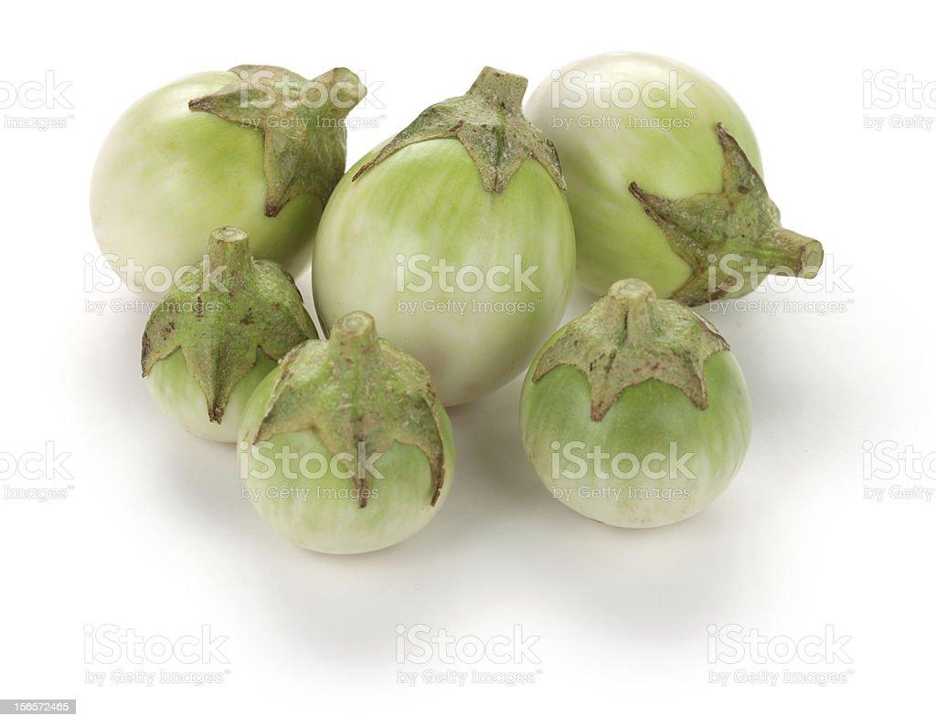thai eggplants stock photo
