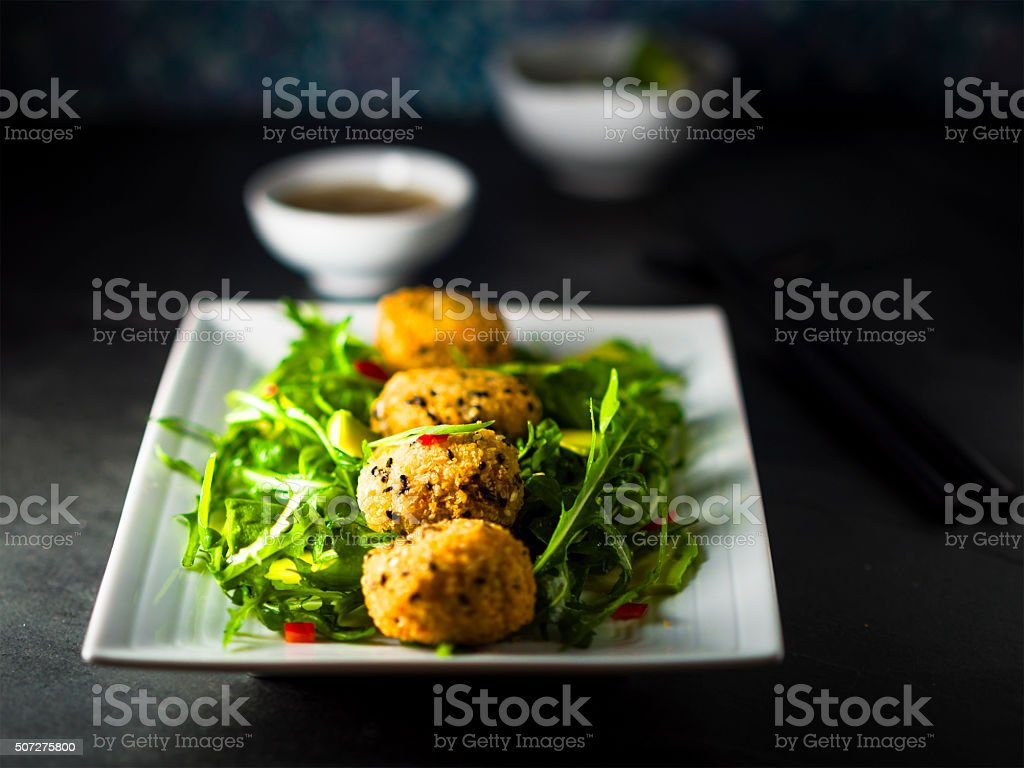 Thai fish cake stock photo
