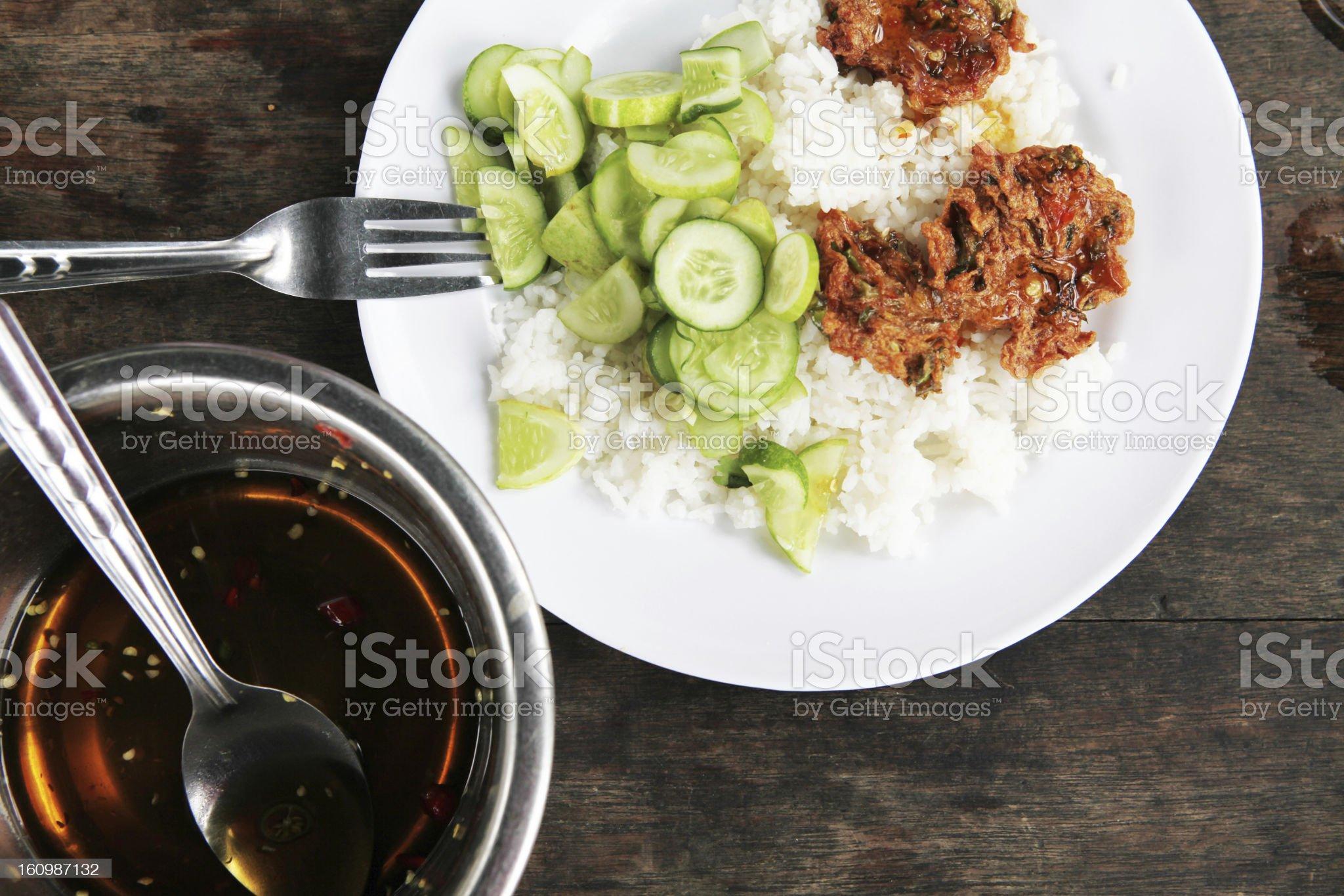 Thai fish cakes royalty-free stock photo