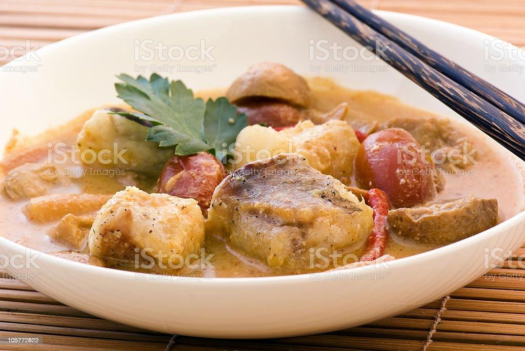 Thai Fish Soup stock photo
