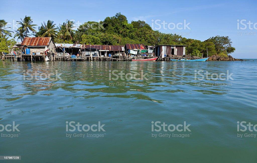 Thai Fishing Village royalty-free stock photo