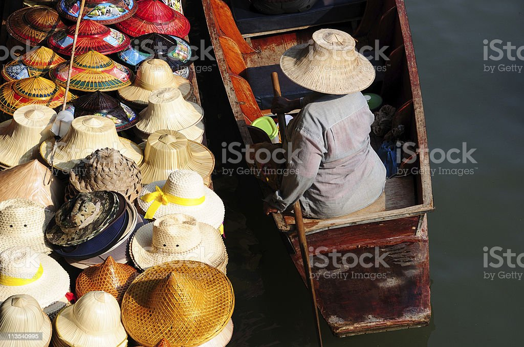 Thai floating market royalty-free stock photo