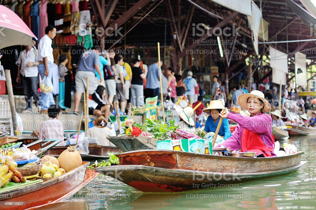 Thai floating market royalty-free stock photo
