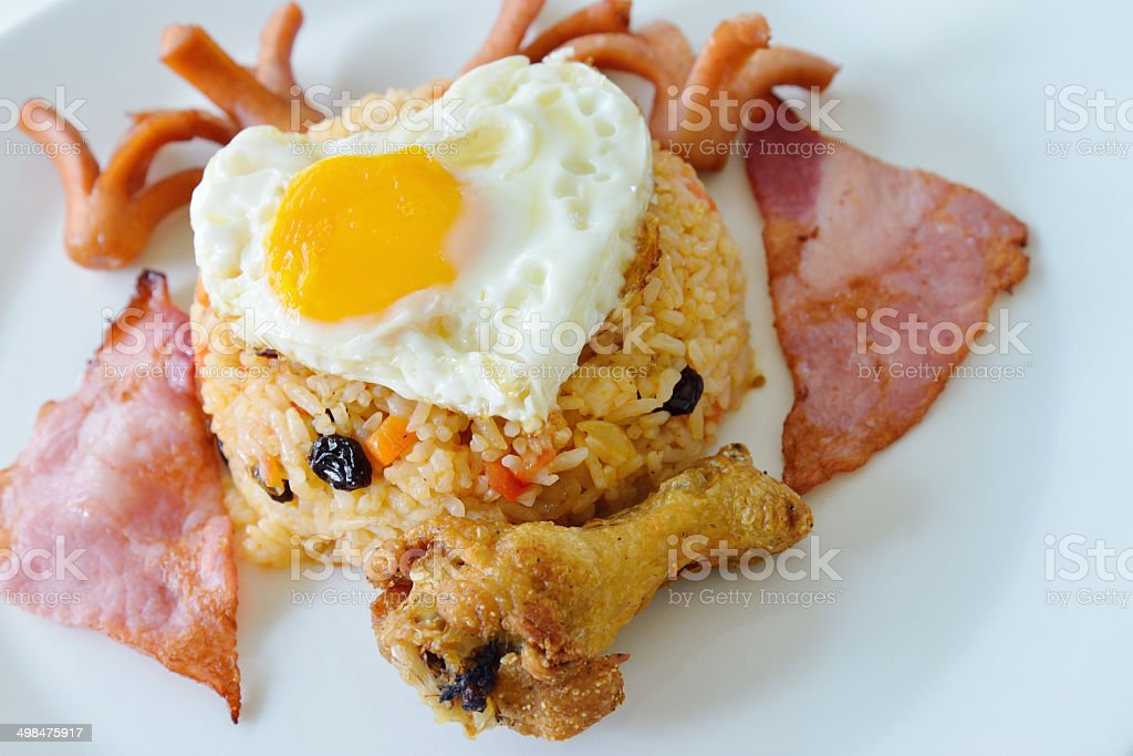 Thai food, American fried rice royalty-free stock photo