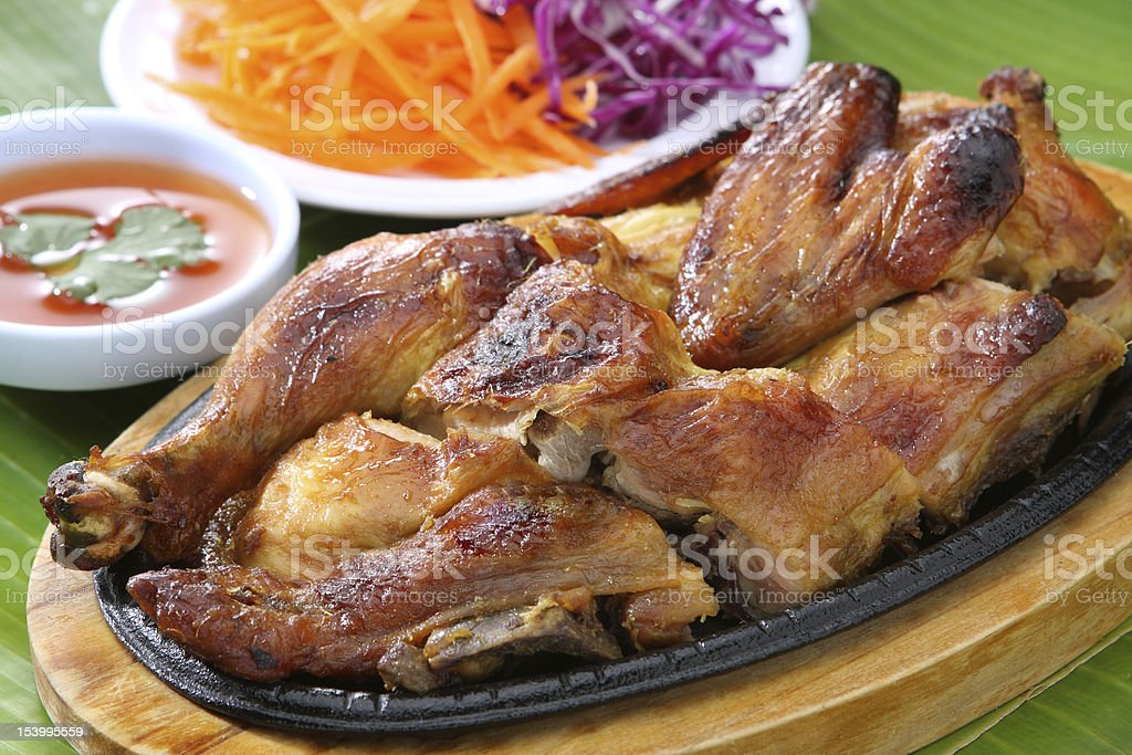 Thai Food Barbecue Grilled Chicken royalty-free stock photo