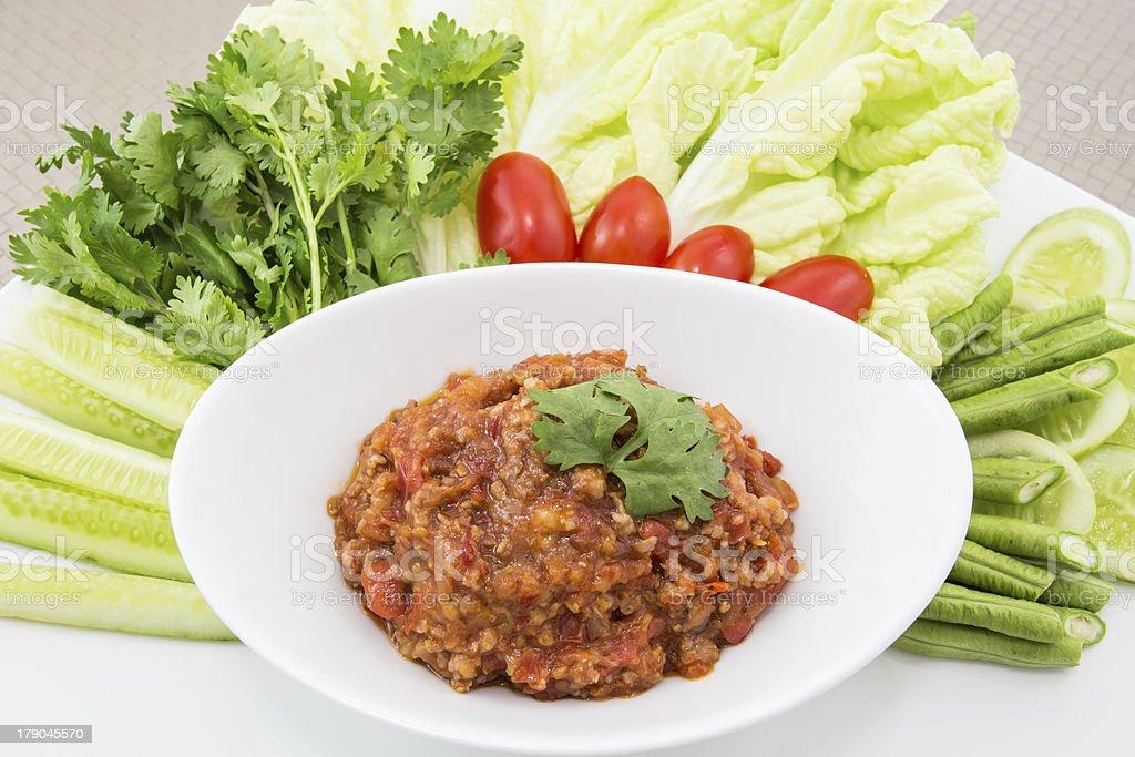 Thai food, Chili paste royalty-free stock photo