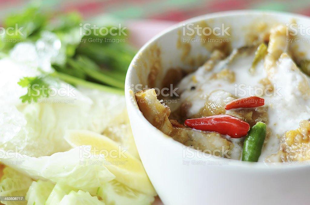 Thai Food Crab stew stock photo
