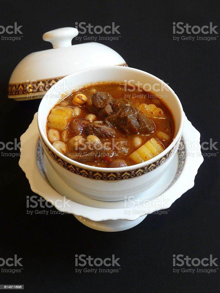 thai food - gaeng massaman nuer - massaman beef curry stock photo