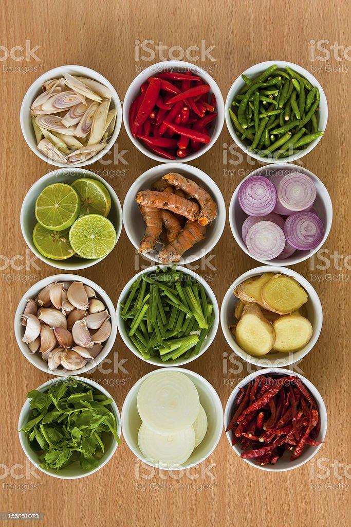 Thai food Ingredients royalty-free stock photo