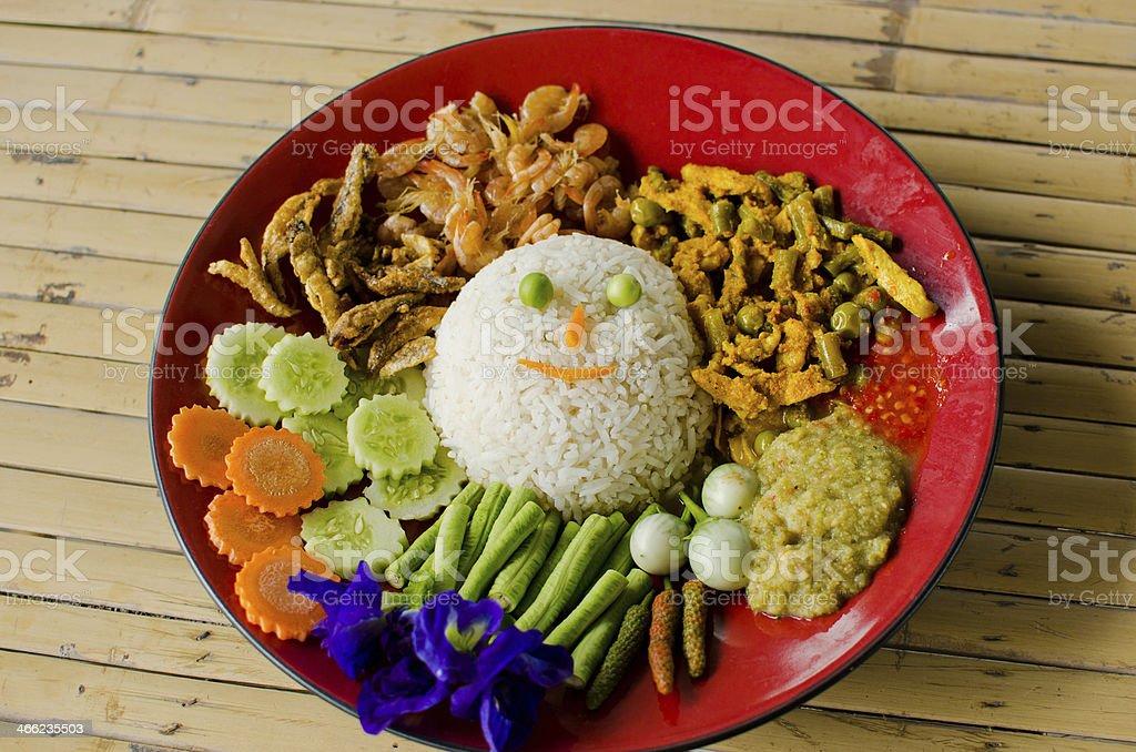 Thai food, Khao Man Kaeng kai royalty-free stock photo