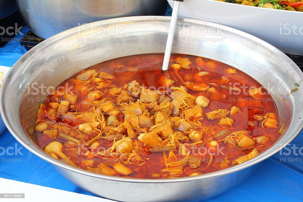 Thai food massaman curry in Big Bowl stock photo