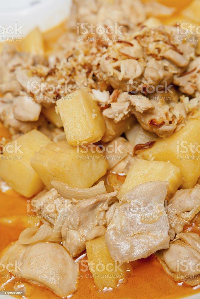 Thai food Massaman Curry royalty-free stock photo