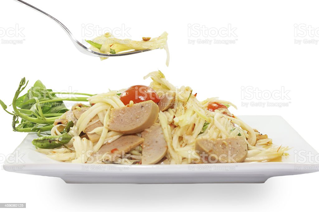 thai food papaya salad royalty-free stock photo