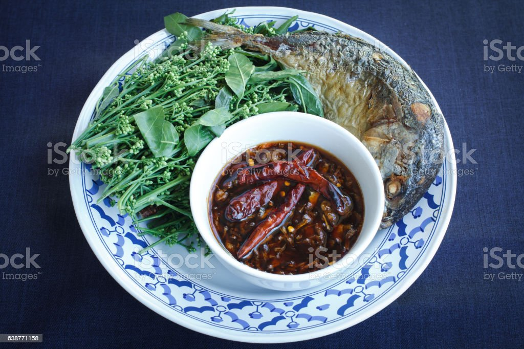 Thai food sweet and sour dip stock photo