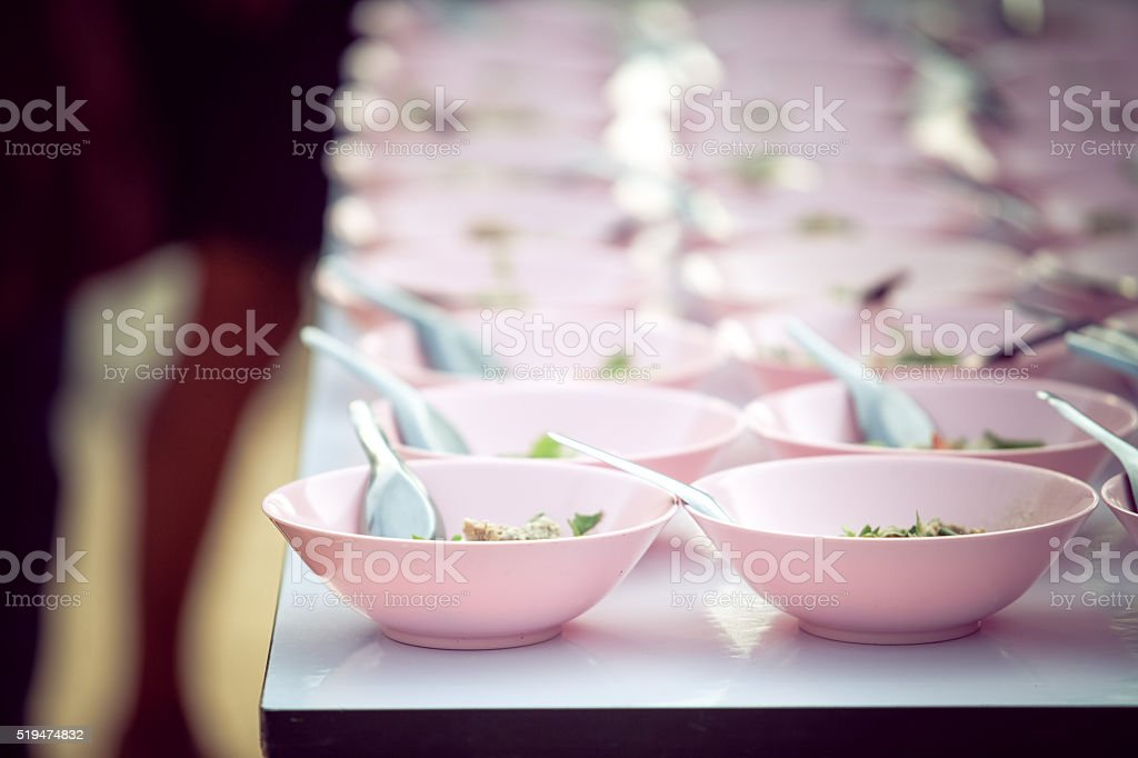 Thai food to pray for sacred things in wedding ceremony stock photo