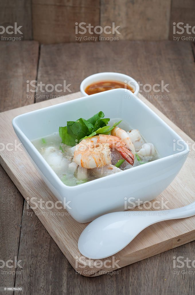 Thai  food with Ekaehla. stock photo