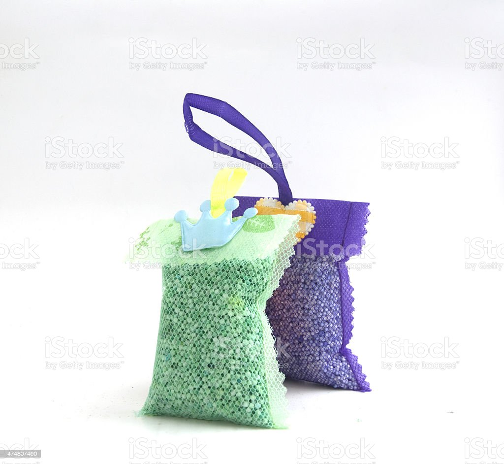 Thai freshener  in net bag for laundry stock photo