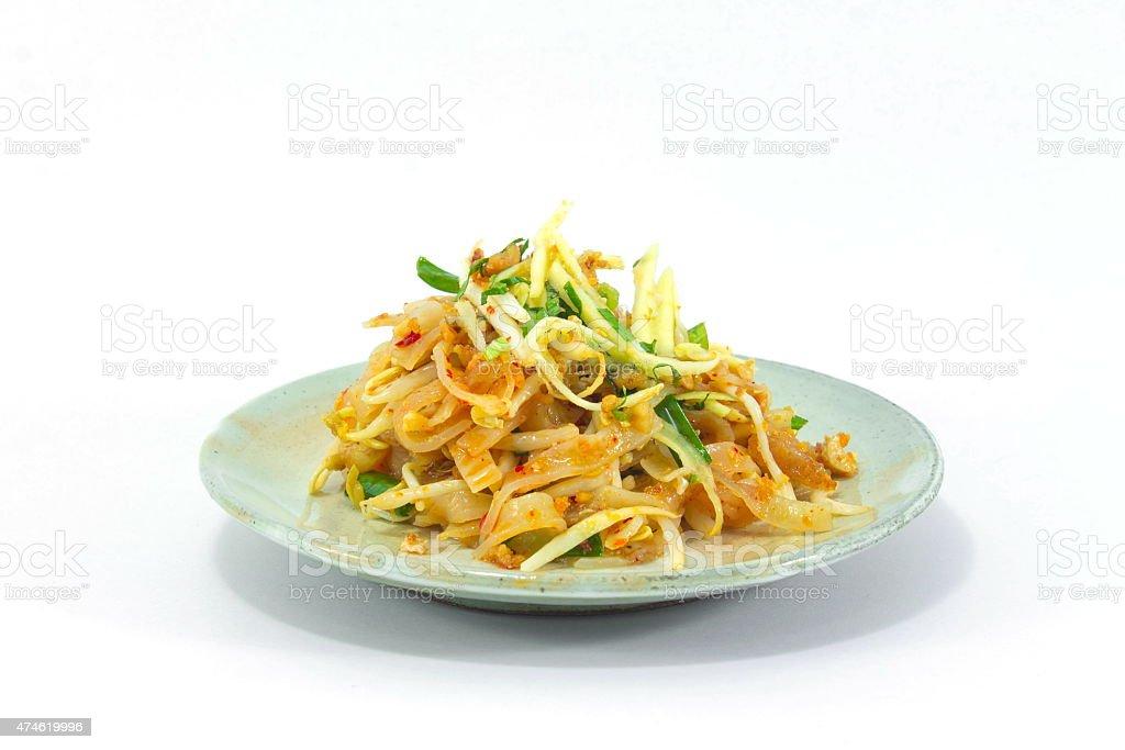 Thai Fried Noodles stock photo