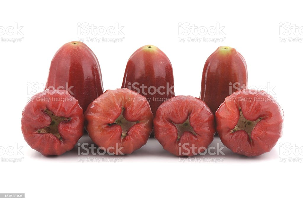 Thai Fruit the Rose Apple or Chomphu stock photo