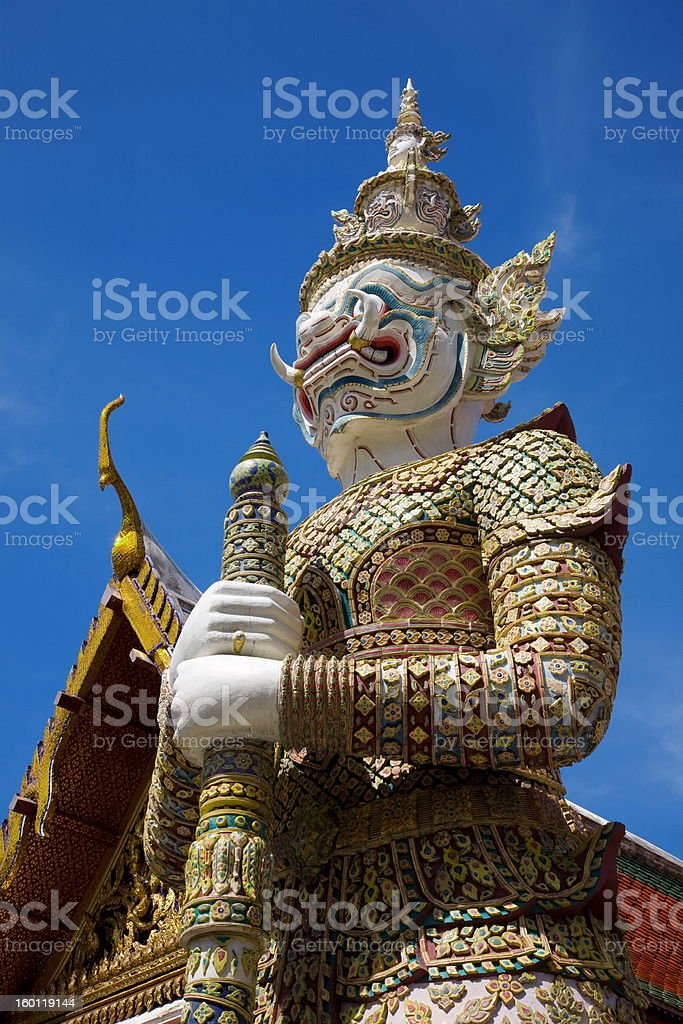 Thai Giant at Grand Palace stock photo