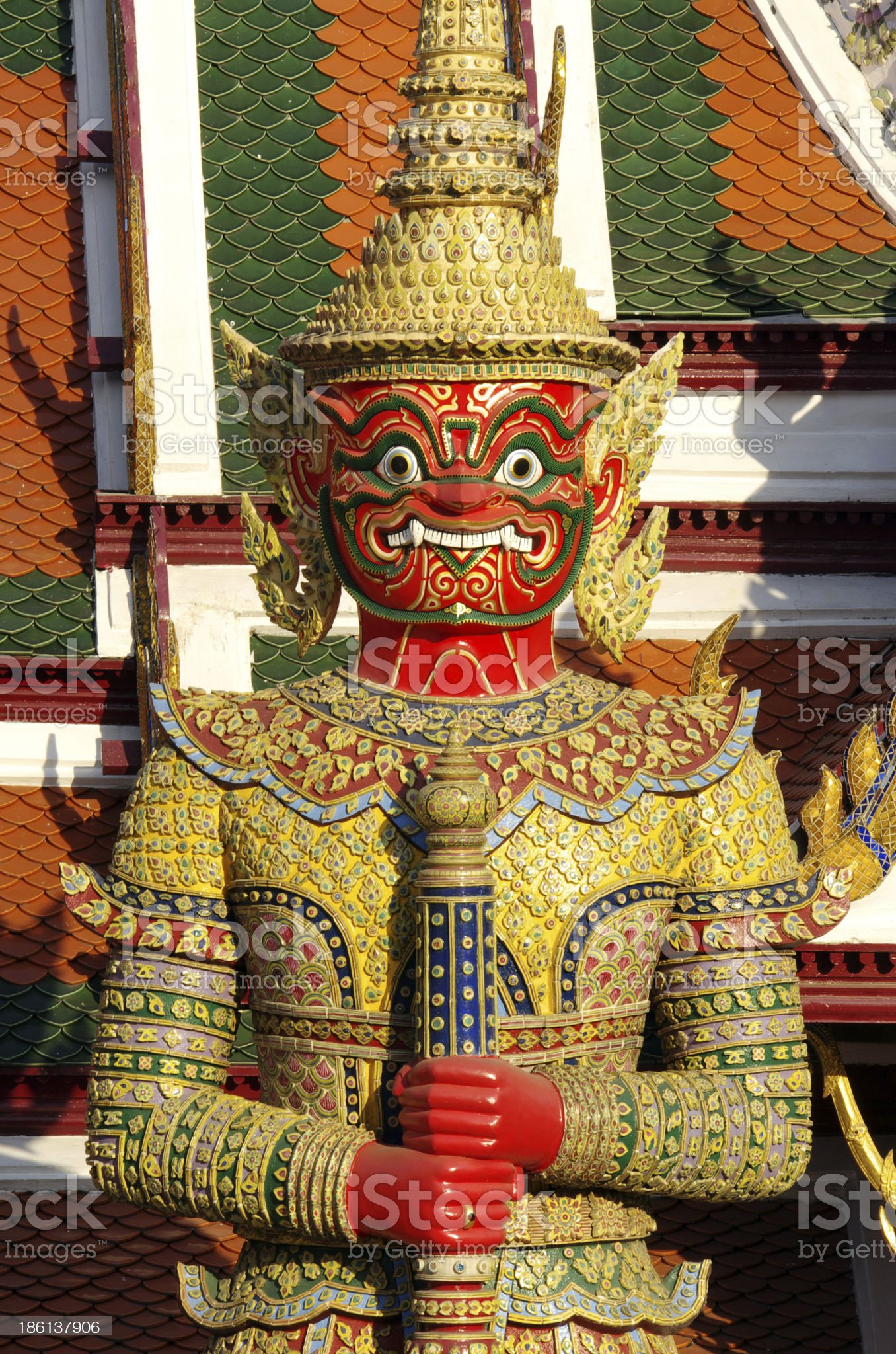 Thai Giant in Grand palace royalty-free stock photo