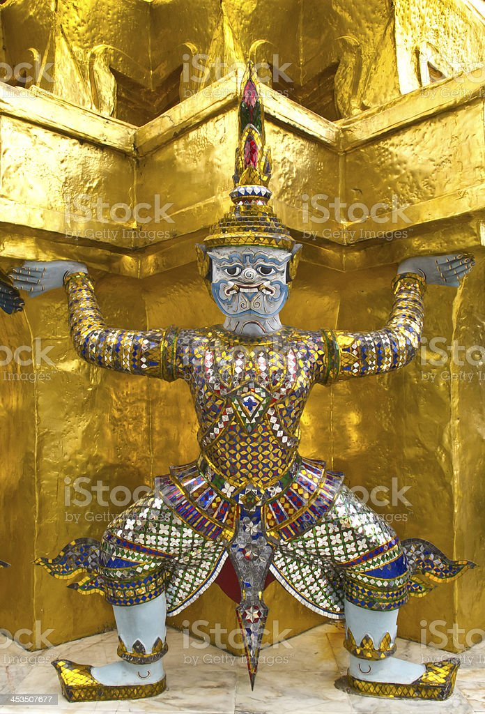 Thai giant sculpture royalty-free stock photo