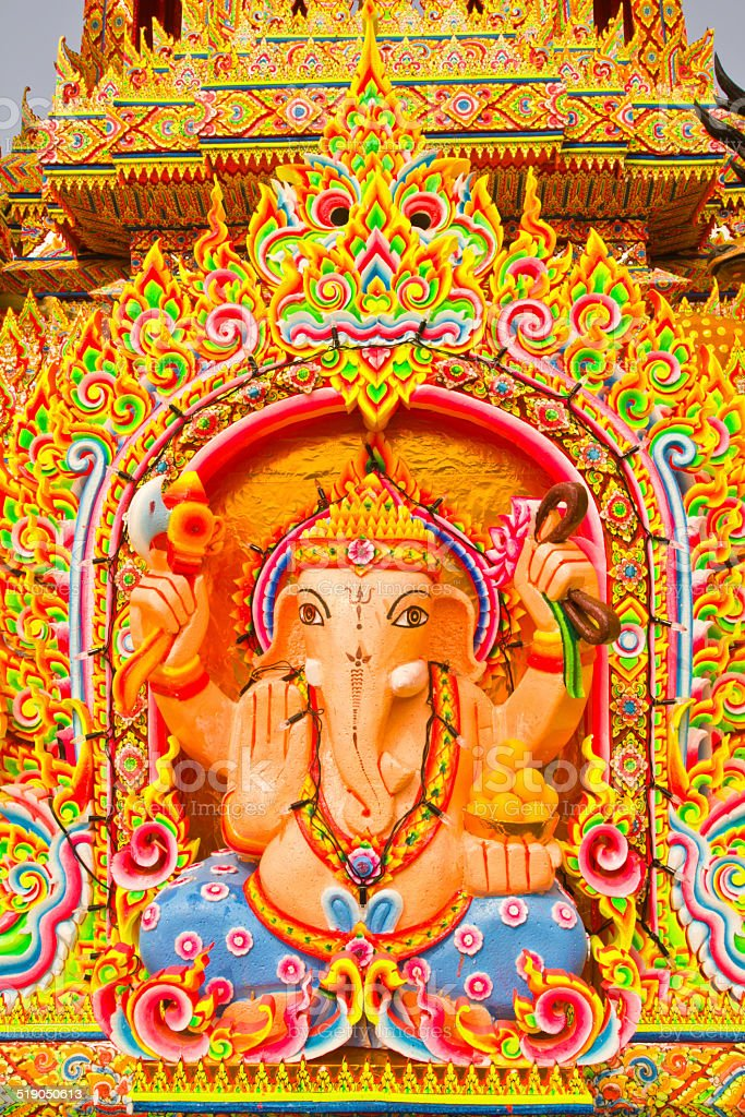 thai God Ganesha Or God Of Success stock photo