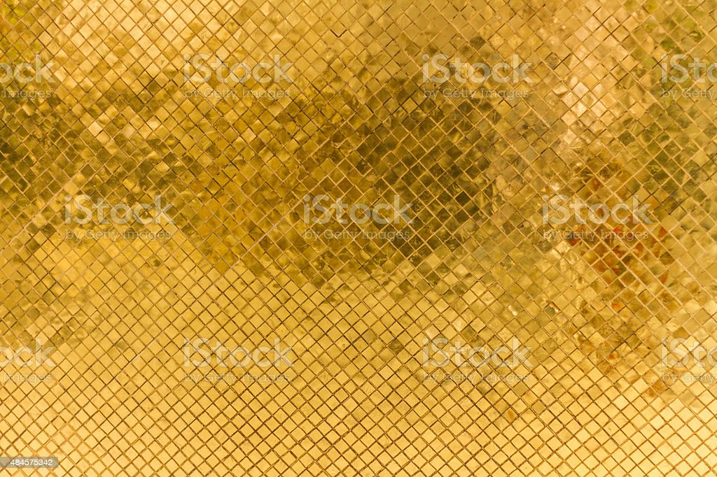 Thai gold lacquer vector art illustration