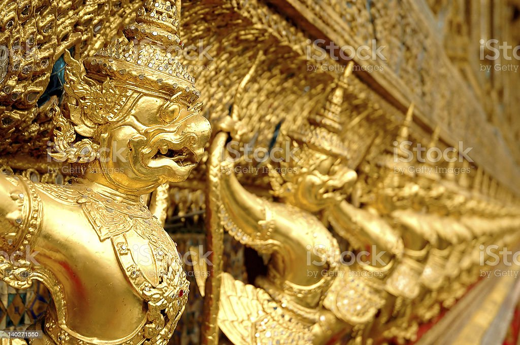 Thai golden symbols royalty-free stock photo