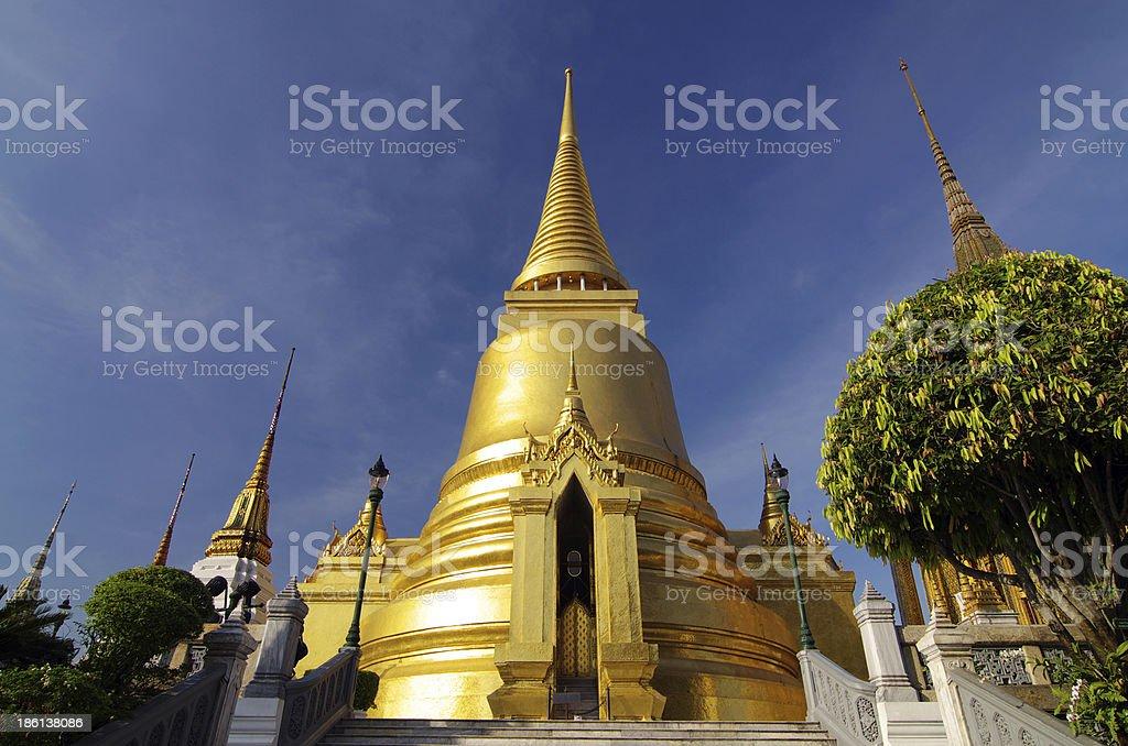 Thai grand palace in bangkok call that wat phra kae royalty-free stock photo