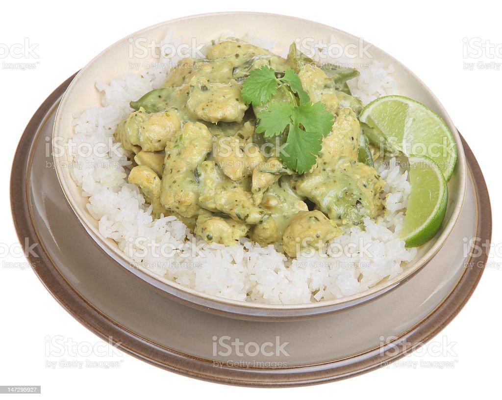 Thai Green Chicken Curry stock photo