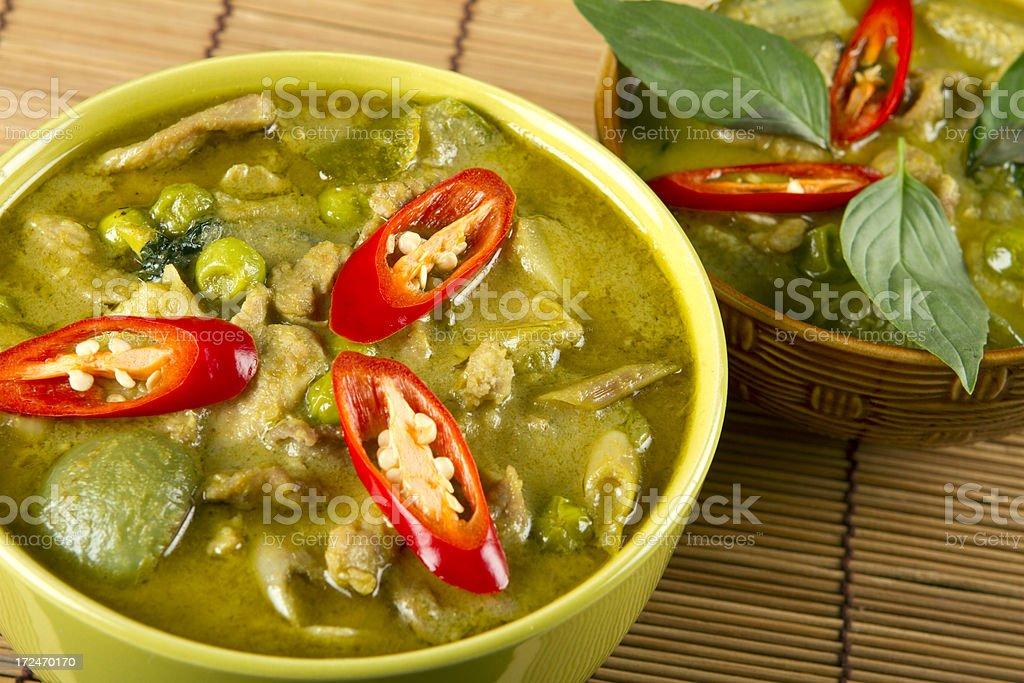 Thai green curry dish stock photo