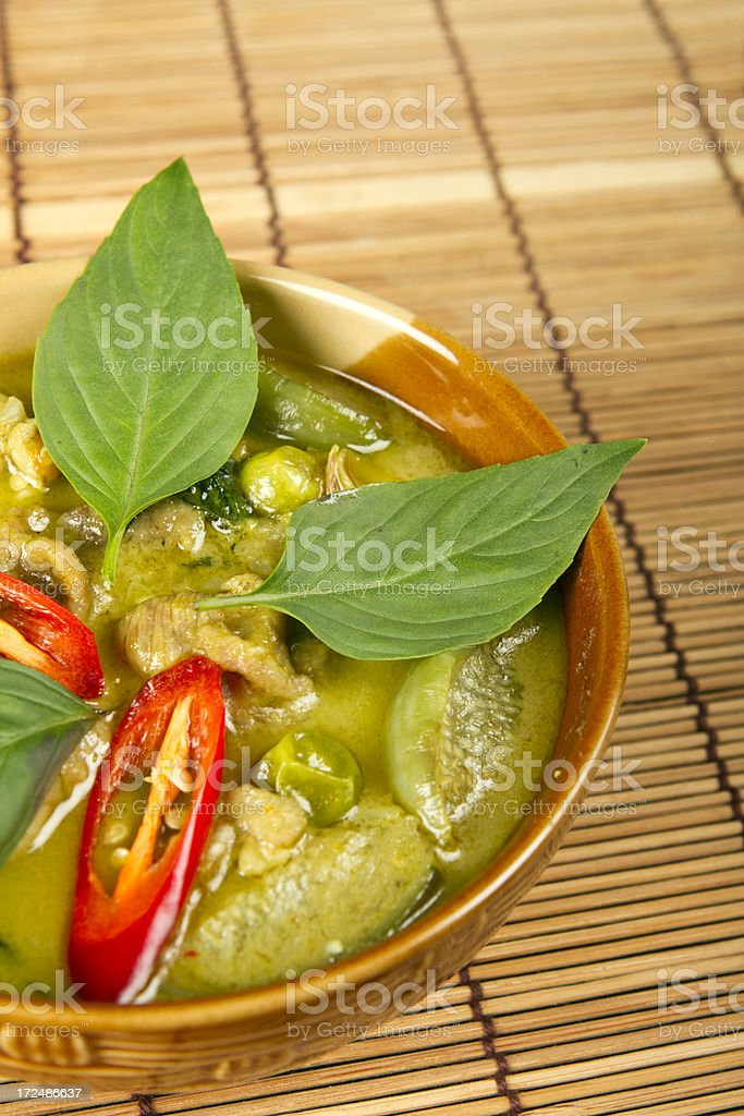 Thai green curry dish royalty-free stock photo