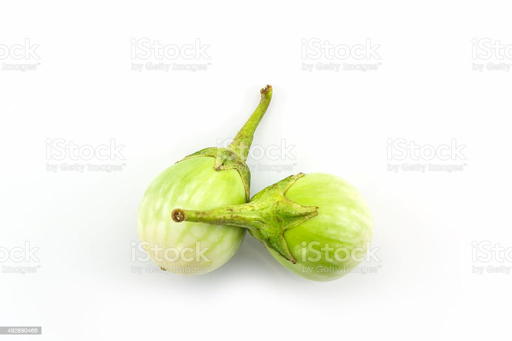 Thai green eggplant. stock photo