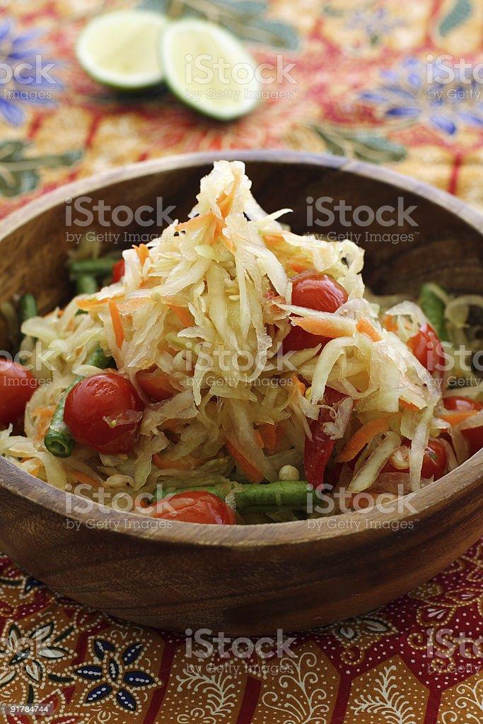 Thai green papaya salad royalty-free stock photo