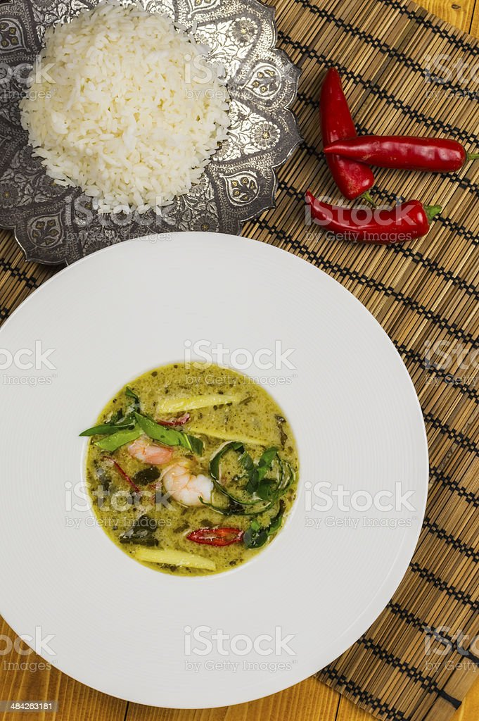 Thai green prawn curry royalty-free stock photo