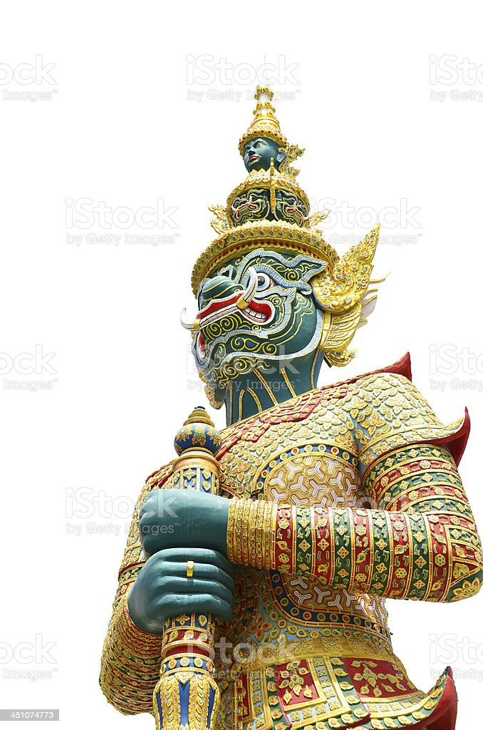 Thai guard statue royalty-free stock photo