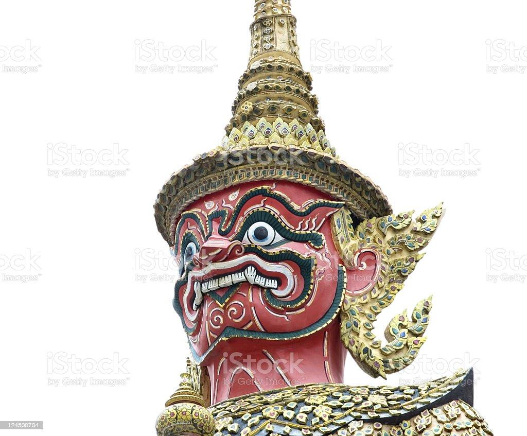 Thai guardian on white background stock photo
