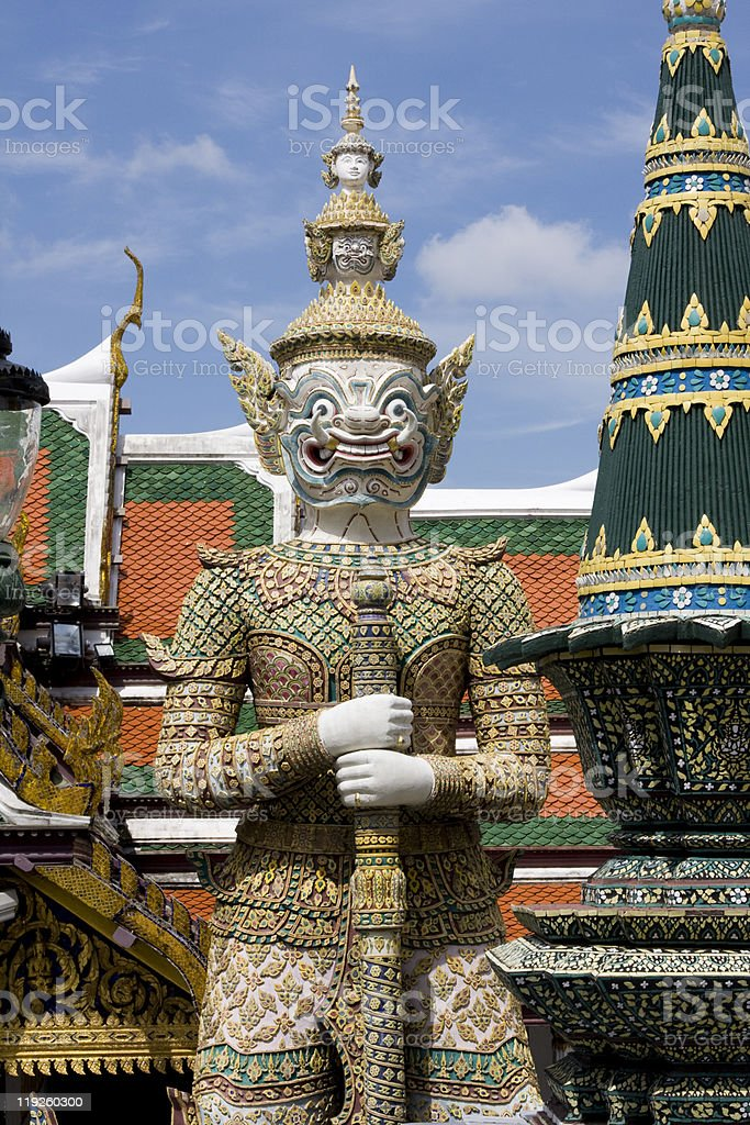 Thai guardian statue royalty-free stock photo
