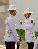 Thai guards at the Bangkok Royal Palace