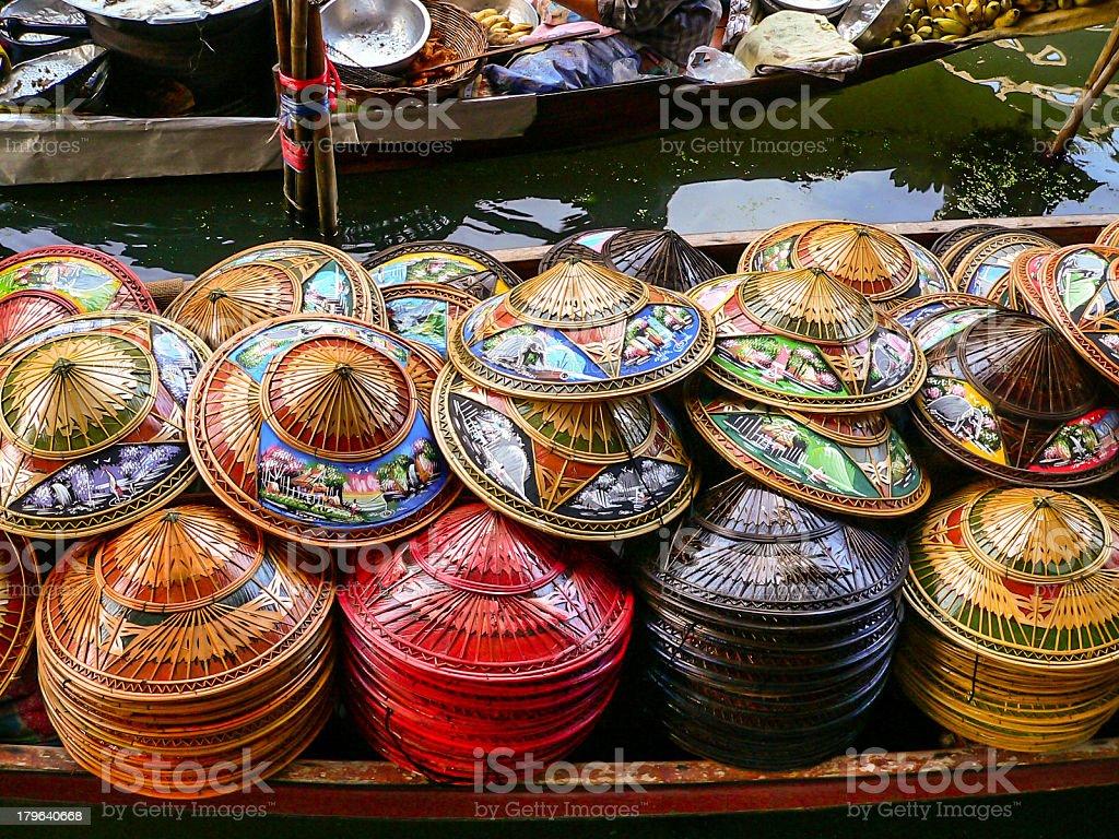 Thai Hats royalty-free stock photo