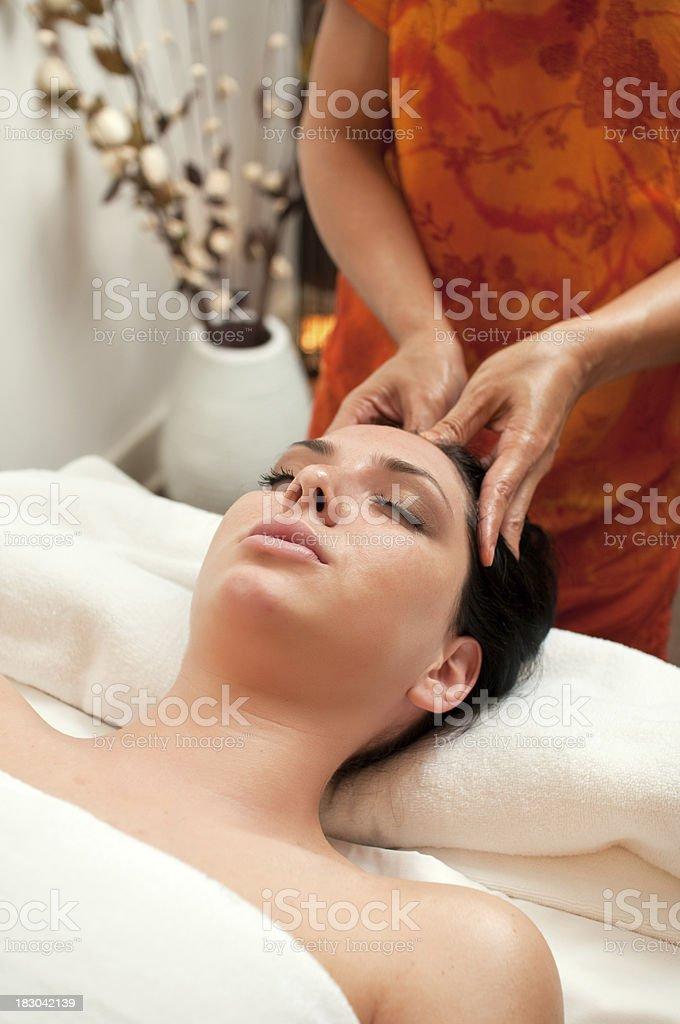 Thai head massage royalty-free stock photo